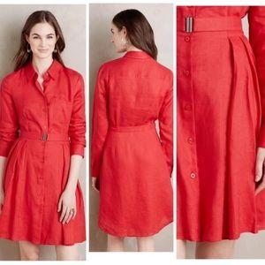HD in Paris Laila red linen dress 0P